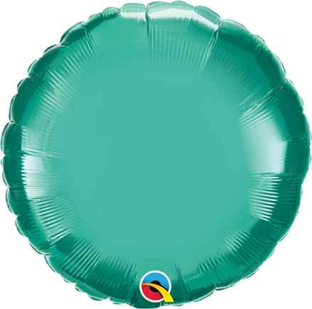 Round Shaped Green Chrome Foil Helium Balloon